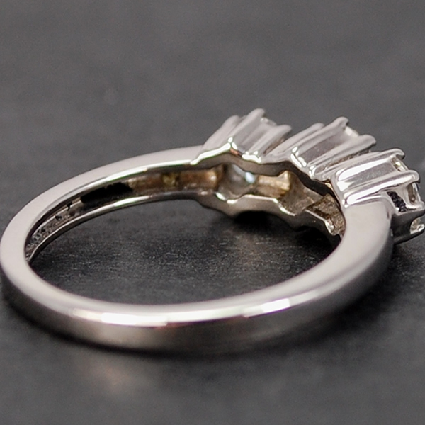 18ct White Gold 3 Stone Brilliant Cut 0.80 Carat Diamond Ring in Modern Jewellery from Coopers Jewellery, North Devon