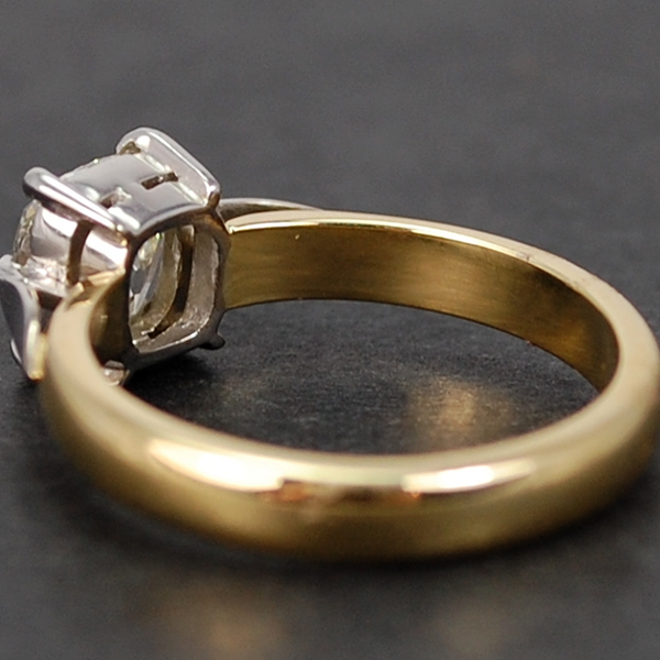 Vintage 18ct Yellow Gold 1.22 Carat Old Cut Single Stone Diamond Ring in Vintage Jewellery from Coopers Jewellery, North Devon