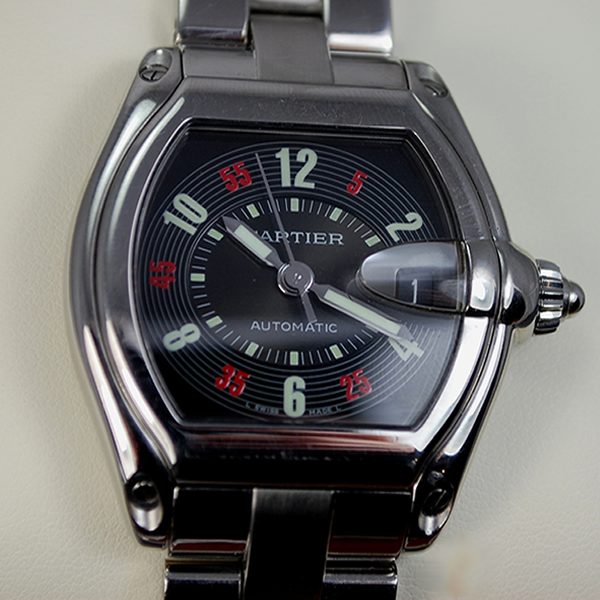 Gents Cartier All Steel Roadster  in Watches from Coopers Jewellery, North Devon