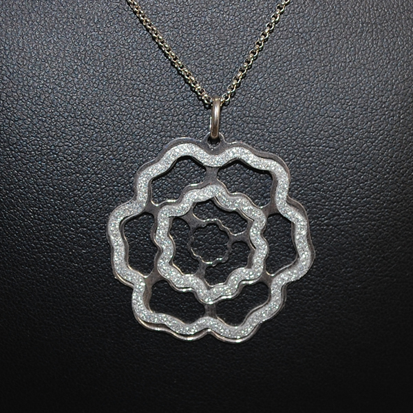 Silver Flower Pendant  in Silver Jewellery from Coopers Jewellery, North Devon