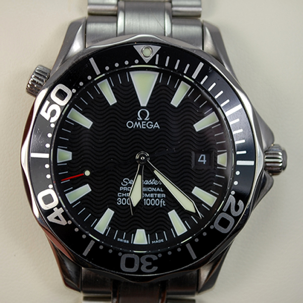 Gents Omega All Steel Seamaster in Watches from Coopers Jewellery, North Devon