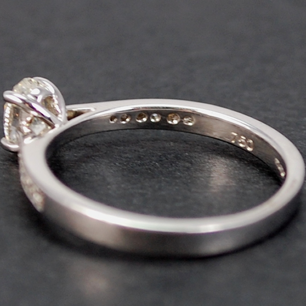 18ct White Gold Oval 0.48 Carat Diamond Ring in Modern Jewellery from Coopers Jewellery, North Devon