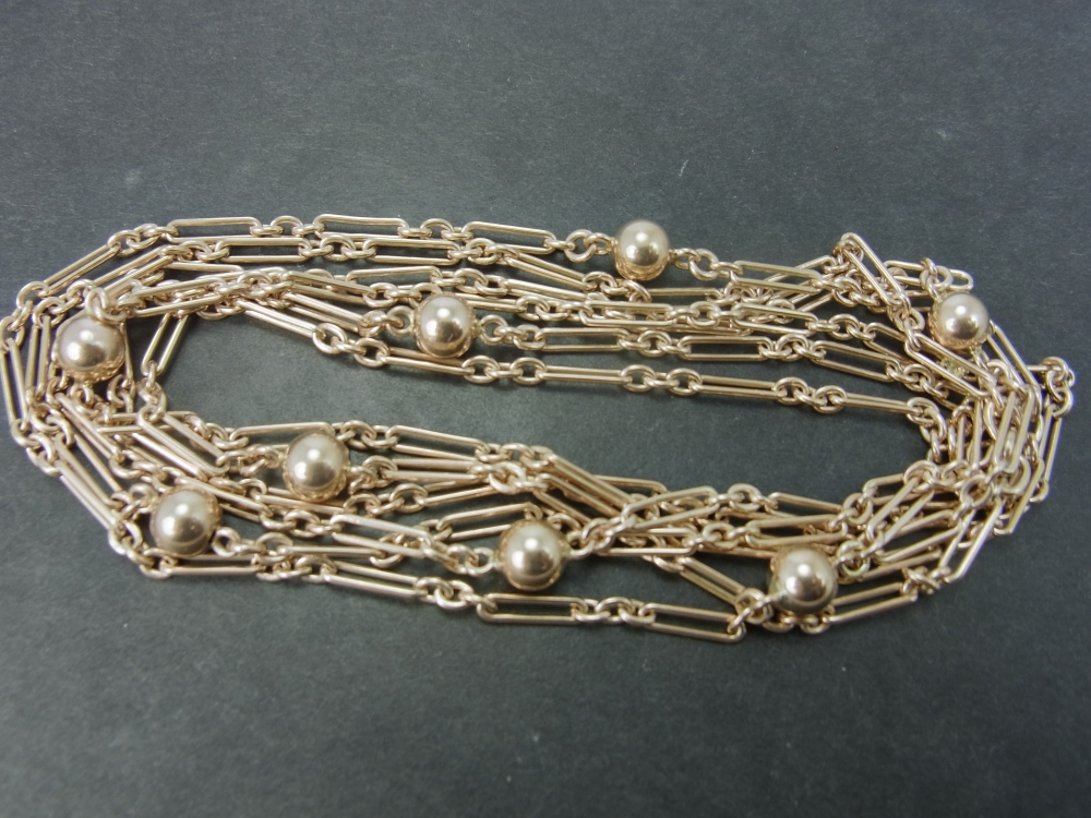 9ct Gold Guard Chain in Vintage Jewellery from Coopers Jewellery, North Devon