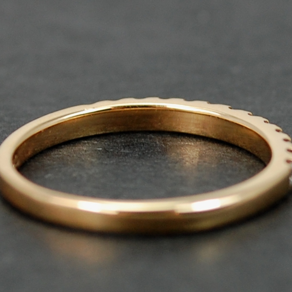 18ct Rose Gold Brilliant Cut Half Eternity Diamond Ring  in Modern Jewellery from Coopers Jewellery, North Devon
