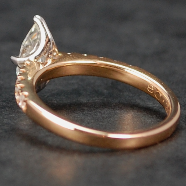 18ct Rose Gold Marquise Diamond Ring in Modern Jewellery from Coopers Jewellery, North Devon