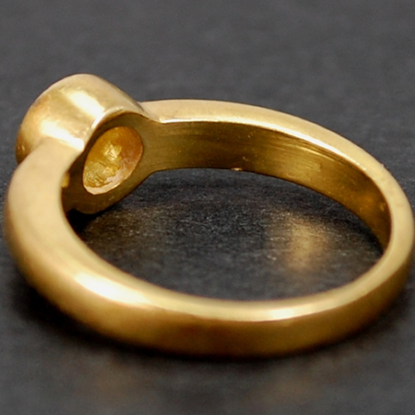 18ct Yellow Gold Brilliant Cut 0.25 Carat Diamond Ring in Modern Jewellery from Coopers Jewellery, North Devon