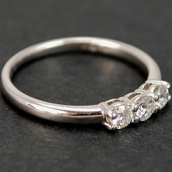 18ct White Gold Brilliant Cut 3 Stone 0.36 Carat Diamond Ring in Modern Jewellery from Coopers Jewellery, North Devon