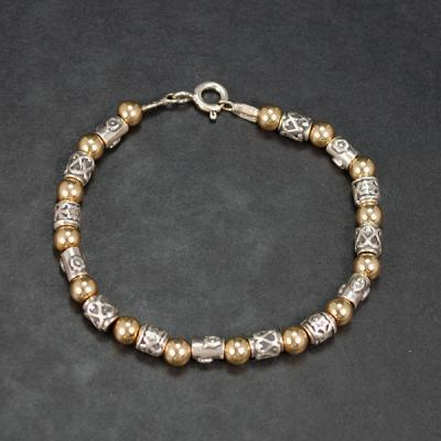 Aviv Silver and Gold Plated Bracelet in Silver Jewellery from Coopers Jewellery, North Devon